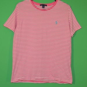 Polo Ralph Lauren Womens XL Pink Striped Shirt